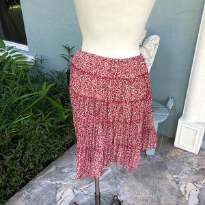 Sunny Leigh Red Ruffled Skirt.  Size S. NWOT